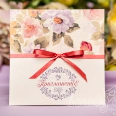 """Приглашение """"Винтажные цветы"""""""