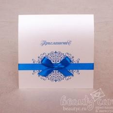 """Приглашение """"Элеганс в синем"""""""