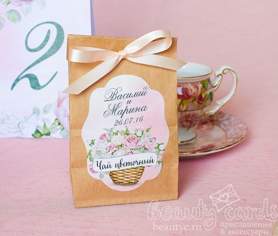 Упаковка для подарка на свадьбу гостям 26