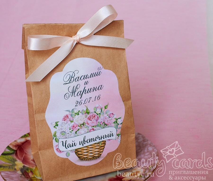"""Упаковка для подарков """"Розовые бутоны"""""""