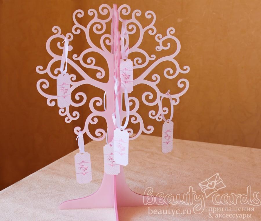 Дерево пожеланий розовый акрил