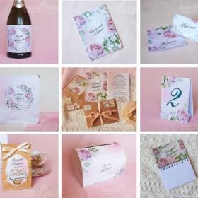 """Коллекция свадебных аксессуаров  """"Розовые бутоны"""""""