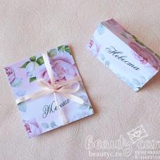 """Рассадочная карточка """"Розовые бутоны"""""""