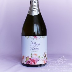 """Украшение на шампанское """"Цветение весны"""""""