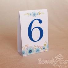 """Номер стола """"Нежные цветы"""""""