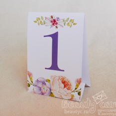 """Номер стола """"Цветение весны"""""""