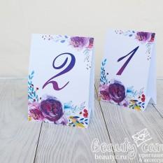 """Номер стола """"Цветочные брызги"""""""