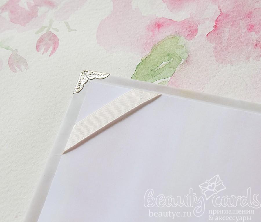 """Папка для свидетельства о браке """"Нежная акварель"""""""